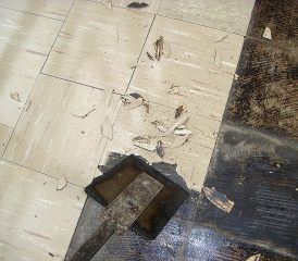 Many People Still Ignore Dangers Of Asbestos - 1960s floor tiles